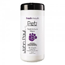 John Paul Pet Tooth & Gum Pet Wipes 45 Salviettine
