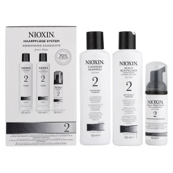 Nioxin Trial Kit Sistema 2: Shampoo Cleanser 150 ml + Conditioner 150 ml + Scalp Treatment 50 ml