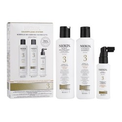 Nioxin Trial Kit Sistema 3: Shampoo Cleanser 150 ml + Conditioner 150 ml + Scalp Treatment 50 ml