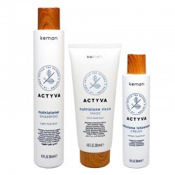 Kit Kemon Actyva Nutrizione Shampoo 250 ml + Mask 200 ml + Cream 150 ml