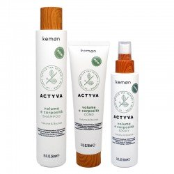 Kit Kemon Actyva Volume e Corposità Shampoo 250 ml + Cond 250 ml + Spray 150 ml