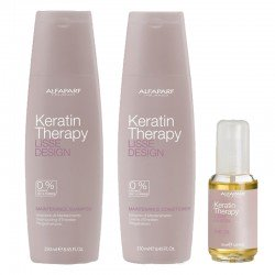 Kit Alfaparf Lisse Design Keratin Therapy Shampoo 250 ml + Maintenance Conditioner 250 ml + The Oil 50 ml