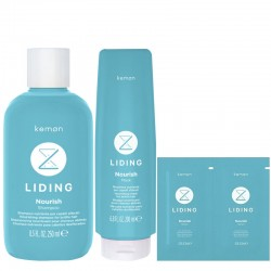 Kemon Liding Nourish Shampoo 250 ml + Mask 200 ml + Serum 2x8 ml