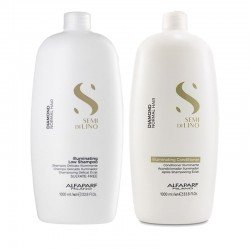 Kit Alfaparf Semi di lino Diamond Illuminating low shampoo 1000 ml + conditioner 1000 ml