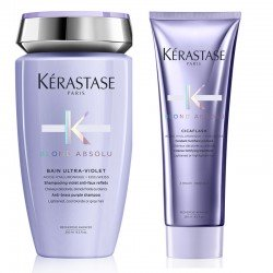 Kit Kérastase Shampoo Blond Absolu Bain Ultra-Violet 250 ml + Conditioner Blond Absolu Cicaflash 250 ml