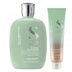 Alfaparf Semi di Lino Scalp Rebalance Purifying Low Shampoo 250 ml + Gentle Exfoliating Scrub 150 ml