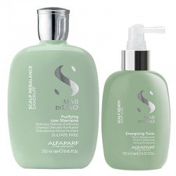 Alfaparf Semi di Lino Scalp Rebalance Purifying Low Shampoo 250 ml + Renew Energizing Tonic 125 ml