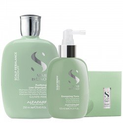 Alfaparf Semi di Lino Scalp Rebalance Purifying Low Shampoo 250 ml + Renew Energizing Tonic 125 ml + Lotion 12x10 ml