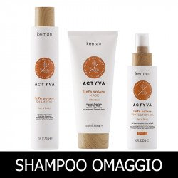 Kemon Actyva Linfa Solare Hair&Body Shampoo 250 ml + After Sun Mask 200 ml + Hair& Body Protection Oil SPF 6 125 ml