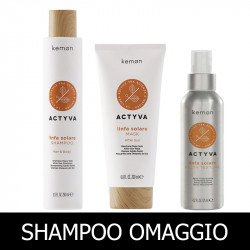 Kemon Actyva Linfa Solare Shampoo 250 ml + Mask 200 ml + Salty Texture 125 ml